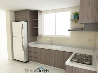 Wet Kitchen of Private House at PIK, North Jakarta Oleh Simply Arch. Modern