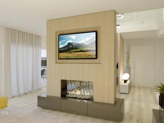 SALA DE ESTAR COM LAREIRA :   por Glim - Design de Interiores