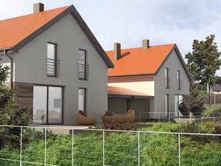 projekt domu typu bliźniak, Dzierżno od OFF architekci