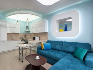 Implemented project of Studio apartment interiors by интерьеры от частного дизайнера Minimalist