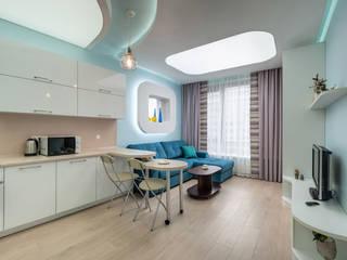 Implemented project of Studio apartment interiors Minimalist dining room by интерьеры от частного дизайнера Minimalist