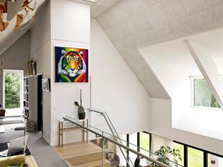 Scandinavian style living room by C.F. Møller Architects Scandinavian