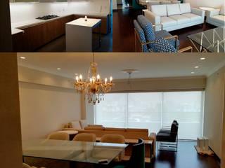 Departamento JESP: Salas / recibidores de estilo  por Soluciones Técnicas y de Arquitectura