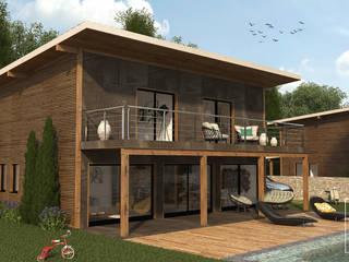 Wooden house: Casas de madeira  por LABVIZ