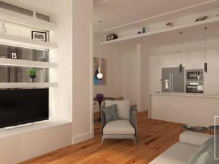 Scandinavian livingroom: Salas de estar  por LABVIZ