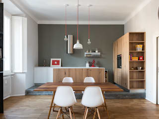 Osb style Cucina in stile industriale di ghostarchitects Industrial