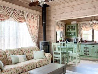 Country style dining room by интерьеры от частного дизайнера Country