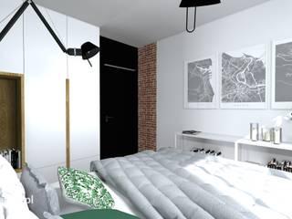 Modern style bedroom by e-wnetrza.pl - Architekci wnętrz on-line Modern
