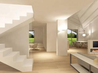 Ingresso con vista su area relax/lettura: Ingresso & Corridoio in stile  di Silvana Barbato, StudioAtelier