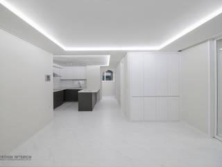 동탄인테리어 모던함이 묻어나는 삼부르네상스아파트 by.n디자인인테리어: N디자인 인테리어의  거실