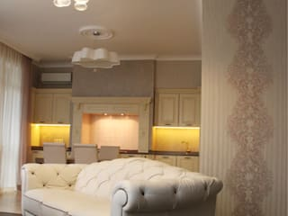 Проект трёхкомнатной квартиры : Гостиная в . Автор – Фаро-дизайн