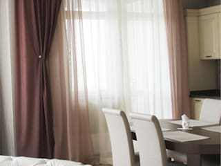 Проект трёхкомнатной квартиры Гостиные в эклектичном стиле от Фаро-дизайн Эклектичный