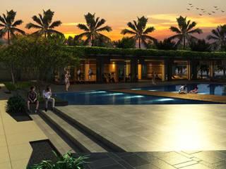 Hoteles de estilo moderno de iwan 3Darc Moderno