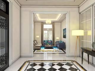 Rumah Darmo Brawijaya iwan 3Darc Koridor & Tangga Modern