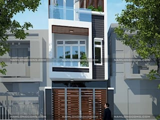 Những mẫu mặt tiền nhà đẹp bởi Công ty cổ phần tư vấn kiến trúc xây dựng Nam Long