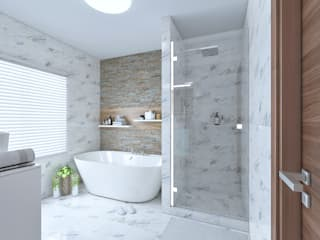 Exotic marble bathrooms:   by Linken Designs ,