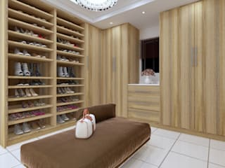 Zimbali Walk in closet:   by Linken Designs ,