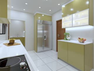 Pearl Gold Kitchen:   by Linken Designs ,