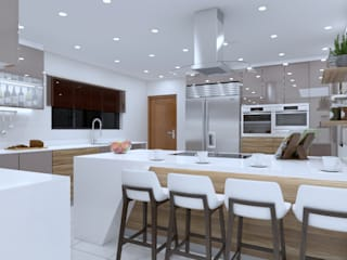 Espresso gloss kitchen in La Lucia by Linken Designs