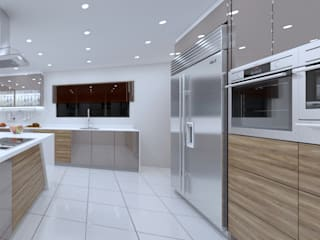 Espresso gloss kitchen in La Lucia:   by Linken Designs ,