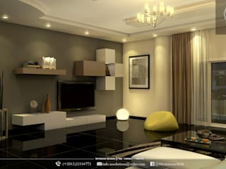 Contemporary Living room design:   تنفيذ MSolutions