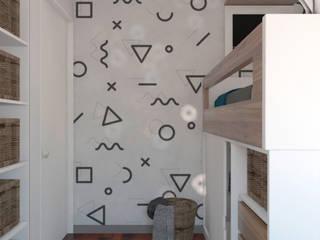 Diseño de Dormitorio para Niño: Cuartos para niños de estilo  por Intro Design Perú , Escandinavo