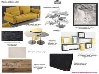 Planches tendances (projets divers) Salon moderne par Lucile Tréguer, décoratrice d'intérieur Moderne