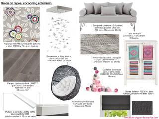 Eclectic style living room by Lucile Tréguer, décoratrice d'intérieur Eclectic
