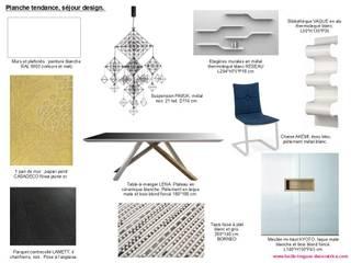 Planches tendances (projets divers) Salle à manger minimaliste par Lucile Tréguer, décoratrice d'intérieur Minimaliste
