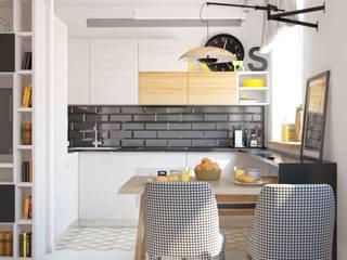 Дизайн двухкомнатной квартиры в скандинавском стиле:  в . Автор – ЕвроДом