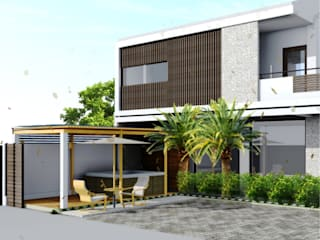 DESIGNEER ARCHITECT INDONESIA Tropical style commercial spaces Engineered Wood Wood effect