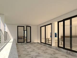 บ้านจำลอง 3D คุณช้าง ห้องโถงทางเดินและบันไดสมัยใหม่ โดย บริษัท พี นัมเบอร์วัน ดีไซน์ แอนด์ คอนสตรัคชั่น จำกัด โมเดิร์น