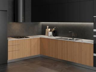 モダンな キッチン の Dündar Design - Mimari Görselleştirme モダン