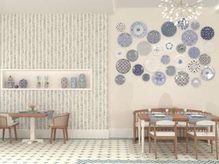 Bej Mimarlık – West Aegean Restaurant:  tarz Duvarlar, Akdeniz