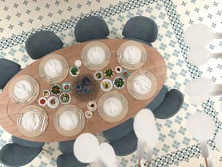 Bej Mimarlık – West Aegean Restaurant:  tarz , Akdeniz