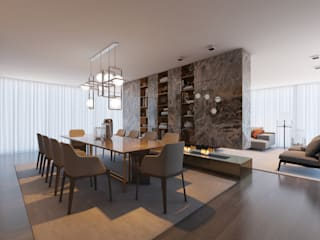 CASA MARQUES INTERIORES Dining roomLighting Marmer
