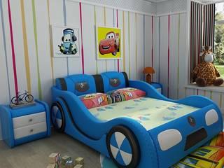 Mẫu Giường ô tô GTE101 màu xanh:   by Xưởng nội thất Thanh Hải