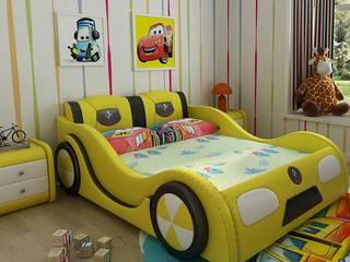 Mẫu Giường ô tô GTE101 màu vàng:   by Xưởng nội thất Thanh Hải