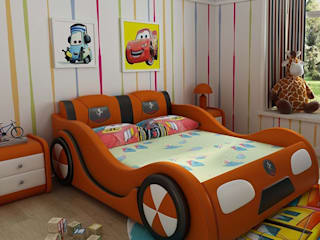 Mẫu Giường ô tô bọc da dành cho bé trai GTE101 Xưởng nội thất Thanh Hải