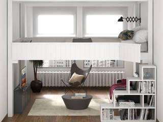 cinius s.r.l. Dormitorios de estilo escandinavo