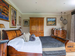 Master Bedroom and Ensuite in West Sussex Country style bedroom by Elizabeth Bee Interior Design Country