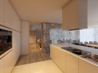 CASA MARQUES INTERIORES KitchenCabinets & shelves Kayu