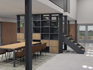 Verbouw gymzaal tot woning Moderne woonkamers van AP-Interieurarchitect Modern