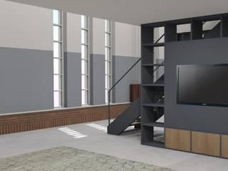 Verbouw gymzaal tot woning: modern  door AP-Interieurarchitect, Modern