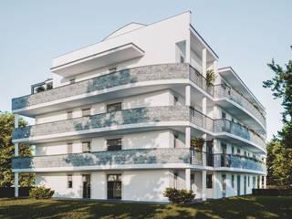 Prospetto Nord-Est: Condominio in stile  di Studio Corbetta architettura e design