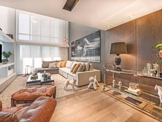 Apartamento Com Design Salas de estar modernas por BG arquitetura | Projetos Comerciais Moderno