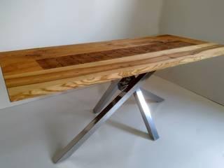 nowoczesny stół z drewnianym blatem: styl , w kategorii  zaprojektowany przez AP meble pracownia mebli