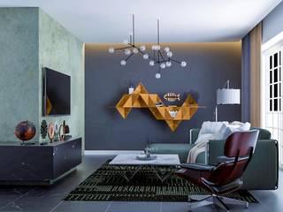 Interior:  Living room by Anamorpho Studio