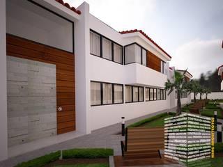Дома с террасами в . Автор – HHRG ARQUITECTOS, Модерн