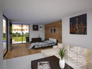 Bedroom by HHRG ARQUITECTOS, Minimalist